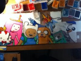 Adventure Time in Beads WIP by mininete