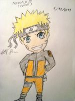 Naruto Chibi with Color by FlowerSapphire