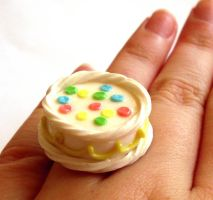 Birthday Cake Ring by FatallyFeminine