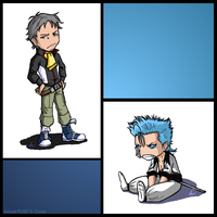 Holland And Grimmjow by psycrowe