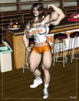 Lin: Hooters Girl 2 by Stone3D