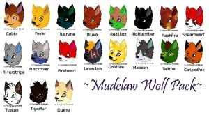 Mudclaw Wolf Pack by MeanCheen