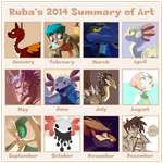 2014 Summary of Art by Rubilight
