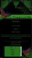 Celtic Wings Journal Skin by JeffrettaLyn