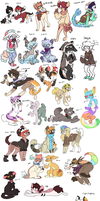 ALL of my current characters by iyd