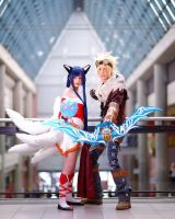 League of Legends ~ Ahri and Ezreal by YamatoTaichou
