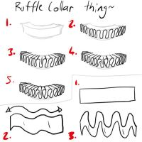Tutorial-Ruffle Collar by JadeKingfisher