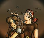 Dagur and Rae - Rae The Short Arse by LadyIonia