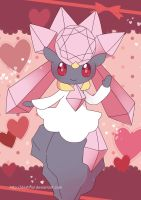 Diancie Poster by Crystal-Ribbon