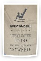 Worrying is like (Poster design 02) by shaixey