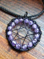Amethyst Eight Pointed Star by MoonLitCreations
