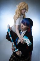 Panty and Stocking (school uniform) by jurisdictia