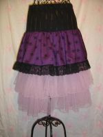 Skirt Purple Skulls Tulle long by SewObession