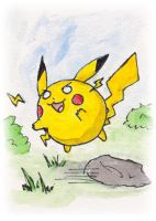 Pikaball Sketch Card by melllic