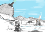 Snow Troopers Defeat ( WIP - Rough) by OxisAnathema