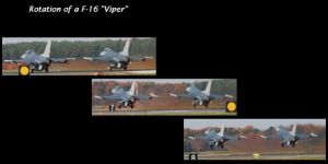 Rotation of a F-16 Viper by FlukieW