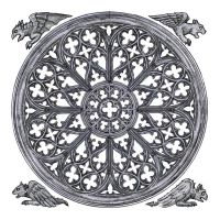 Rose window white w gargoyles by dashinvaine