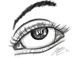 Realistic Eye - First Attempt - 9.12.2014 by STLCajun