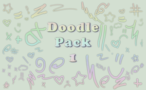 Free to Use Brushes - Doodle Pack 1 by Cammerel