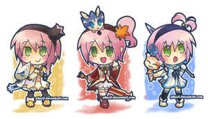 Kanonno Chibis by PhuiJL