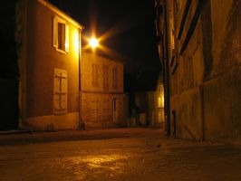 Street by night by mordoc-stock