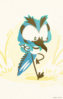 Cobble the Bluejay by super-tuler
