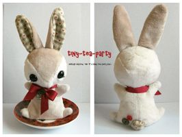 Bramble Teacup Bunny - Alternate Views - SOLD by tiny-tea-party