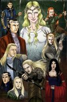 The Elves from Lord of the Rings  and The Hobbit by avarts74