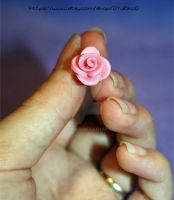 Tiny polymer clay rose by o-YuRiko-o