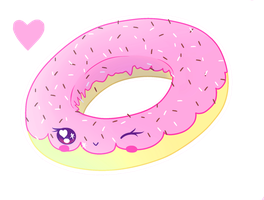Flirty Donut MERCH AVAILABLE by Squishy-Feathers