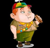 a fat boy scout by GilJimbo