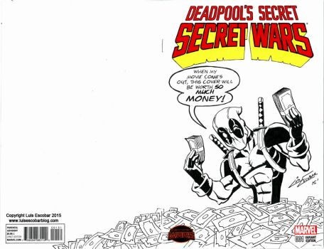 Deadpool Variant Sketch Cover by LuisEscobar
