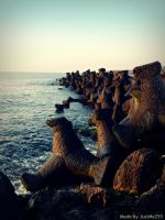 Sea breakwater... by JustMe255