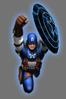 Blue Lantern Captain America by Lord-Lycan