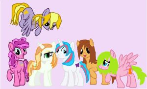 First MS Paint Art EVAR: My Mane 6 by PaintPalletePony