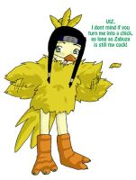 Haku as a chick by MariahEchidna