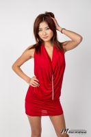 Ayano Red Dress VIII by Milton-Andrews