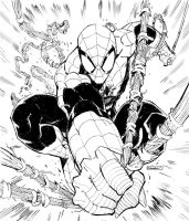 spider-man commission inks by RyanStegman