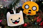 Jake and Finn ornaments by brokensymphony