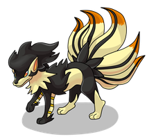 Free Pokemon Fusion Request: Nineray by G-creator