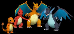 Charizard Family by javierini