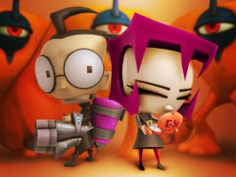 Invader Zim: Dib and Gaz by hinxlinx