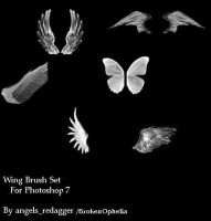 Wing brushes 1 by BrokenOphelia