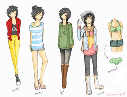 Hane Modern Outfits Ref by PeachMochi