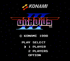 Gradius III Title Screen NES Mockup by ProfChristopher