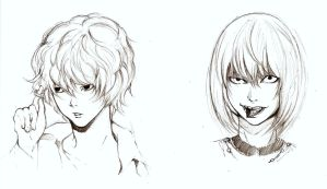 Sketches-Near and Mello by Marghe-chan