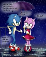 Sonamy (+speedpaint) Maybe she punched you, but... by SwayingSerenity