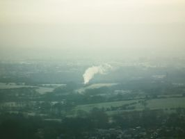 flying scotsman at a distance by harrietbaxter