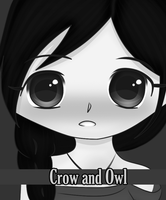 Crow and Owl by silentroce