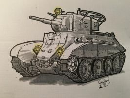 BT-7 Light Tank (Inktober) by DrEisenhauer28